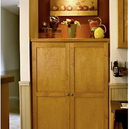 Craftsman style storage and display cabinet -