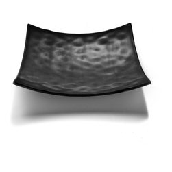 Elite Global Solutions - Black Zen 9 3/4 Sq x 2 1/4 H Square Plate - Case of 6 - Get on the path to enlightenment. The shapes and textures of the Zen collection reflect the beauty of natures bounty