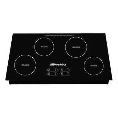 "WindMax - Hot Sale 31.5"" Induction Hob 4 Burner Stove Cooktop Black Crystal Glass 240V - 100% Brand New with Good Quality;"