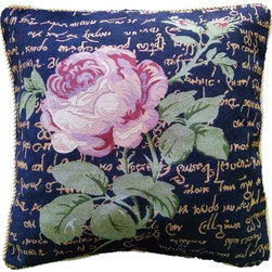 Tache Home Fashion - Tache Solitary Rose 18 x 18 Inch Throw Cushion Cover, 18 X 18 Inches, 2 Pieces - A Solitary Rose is Looking for a Home of her own. Take her in, and with her beautiful coloring and foliage she will win your heart