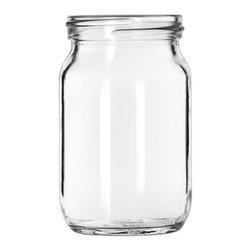 Hospitality Glass - Mason Jars, Set of 12 - 16 oz Mason Jar