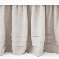 Pleated Linen Natural Bed Skirt - Perfect to pair with your linen headboard, the horizontal pleats on this bed skirt add texture but won't compete with patterned bedding. This is a timeless piece.