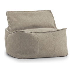 Comfort Research - Comfort Research Big Joe Lux ID Zip It! Square - Hitchcock, Golden - At Comfort Research, being called a square is one of the nicest things you can say about someone. That's because it refers to our Zip It! Square, a super comfy, ultra soft, glass half-full kind of chair that can do most anything. It can be a seat, a foot rest or a trustworthy  cushion to lean against if the couch is full. And because it's a member of our Zip It! family, the Square goes the extra yard by unzipping to reveal additional lower back support. So go ahead and call us a square. We'd be honored. Filled with UltimaX Beans that conform to you.  Double stitched and double zippers. Spot clean.