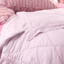 Elizabeth Allen Atelier - Blush Sateen Queen Coverlet - Blush Sateen Queen Coverlet