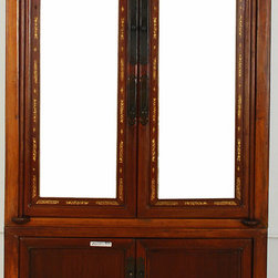 Two-piece Mirrored Armoire - Two-piece Mirrored Armoire