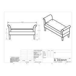 custom bed bench - this bench was designed and built for an interior designer client