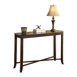 Office Star - INSPIRED by Bassett Bella Console Table w/ Mirror in Truffle Finish - Console Table w/ Mirror in Truffle Finish belongs to Bella Collection by Ave Six Series   Console Table (1)