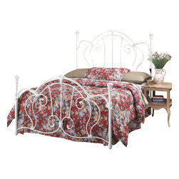 Hillsdale Furniture - Hillsdale Cherie Panel Bed - King - A sophisticated Victorian styled bed that marries interesting scroll work with vivid castings.