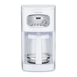 Cuisinart - Cuisinart DCC-1100 White 12-cup Programmable Coffeemaker - Fully-programmable and rich with time and cost-saving features,this Cuisinart 12-cup coffeemaker is built with modern-day needs in mind.