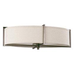 Nuvo Lighting - Nuvo Lighting 60-4459 Portia 6-Light Oval Flush with Khaki Fabric Shade - Nuvo Lighting 60-4459 Portia 6-Light Oval Flush with Khaki Fabric Shade (6) 13w GU24 Lamps Included