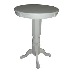 Boraam - Boraam Florence Pub Table in White - Boraam - Pub Tables - 71442