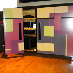Custom Audio Equipment Storage Cabinet -