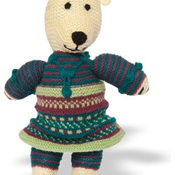 Sitara Collections - Hand-Knitted Teddy Bear - Every Child Needs a Teddy Bear, and ours is the Perfect Choice. Hand-Knit by Talented Women in Kilmora, india, these Bears are Made of Materials Like Wool and Cottom and Colored with Natural Dyes. an Irresistible additiom or Start to any toy Collectiom. amazingly soft Butter Fabric soft, Squishy Fill Machine washable Set includes: ome (1) Plush Stuffed Bear Choose Between Boy or Girl Materials: Dyed acrylic Wool, Polyester Fiber Fill Stuffing, Thread Embroidery Color: Multicolored Dimensioms: 16.0 inches High X 12.00 inches Wide X 5.00 inches Deep Weight: 0.65 Pounds.