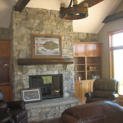 traditional living room by Ruebl Builders LLC