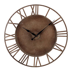 Sterling - Sterling 128-1002 Metal Roman Numeral Outdoor Wall Clock. - Sterling 128-1002 Metal Roman Numeral Outdoor Wall Clock.