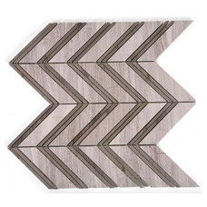 Monarch Wooden Beige Athens Gray Strips Marble tile- shop glass tiles at glassti