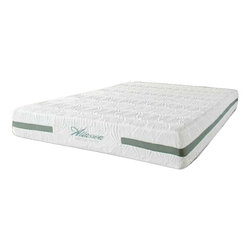 Allassea - Allassea Sovereign Premium 10 Inch Cool Gel Memory Foam Mattress, King - Allasea's Sovereign 10 inch memory foam mattress is made from quality certified memory foam with a removable cover of organic cotton, tencel, and silk.  It resists bed bugs, mold, mildew, and bacteria, and is non-allergenic.  Allassea's exclusive 'Ice Flow' sleep systems feature today's most advanced technology and best premium components to offer the greatest options, comfort, and support to create a superior mattress that exactly conforms to the shape of your body and increases body contact for a better night's sleep.