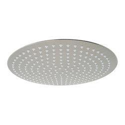"""ALFI brand - Alfi brand RAIN16R Solid Stainless Steel 16 Round Ultra Thin Rain Shower Head, P - Transform your bathroom with this ULTRA THIN rain shower head which is only 2mm thick, that's about 1/16"""" of an inch! You won't believe your eyes and neither will your next house guest. Enjoy the modern sleek thin design and be reassured that its made of solid stainless steel unlike traditional rain shower heads made of brass."""