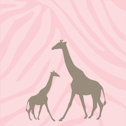 Murals Your Way - Momma & Baby Giraffe - Girl Wall Art - Painted by Simon & Kabuki, Momma & Baby Giraffe - Girl wall mural from Murals Your Way will add a distinctive touch to any room