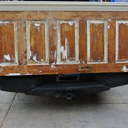 Door Headboards 3 - Vintage Headboards makes headboards using old doors and antique doors.  The old door headboards and new door headboards we make start at $125 and go up from there depending on the style, size and details you request.  Our headboards can be ordered in any of our styles or colors for any size of bed.  The installation is quick.  Our Customers use standard metal bed frames to support their mattress and box spring and attach our headboards to them using hardware we provide.