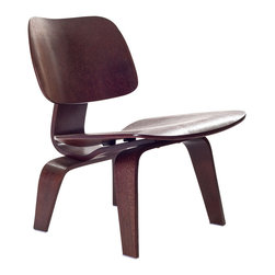 Modway Furniture - Modway Fathom Lounge Chair in Wenge - Lounge Chair in Wenge belongs to Fathom Collection by Modway Designed to comfortably fit the body, the sculpted form of the molded plywood chairs are produced using thin sheets of lightweight veneer gently molded into curved shapes with natural rubber shock mounts to absorb movement. Since then, the chairs' aesthetic integrity, enduring charm, and comfort have earned it recognition as the best of modern design. Set Includes: One - Fathom Lounge Chair Lounge Chair (1)