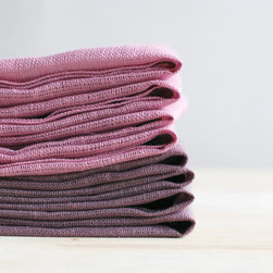 Natural Linen Napkin Set by Imali - Perfect for a Valentine's Day tea or any time you want a little romance at your table, try these pink linen napkins by Imali.