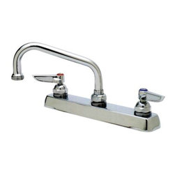 T&S BRASS - T & S Deck Mounted Faucet with Swing Nozzle - Features: