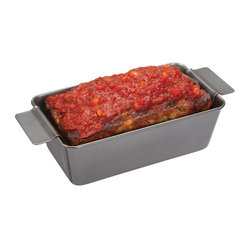 Chicago Metallic - Chicago Metallic Healthy Meatloaf Set - You'll never eat soggy-bottomed, greasy meatloaf again. You'll never soak the pan in the sink for hours. The perforated rack on the bottom lets the fat run out while the flavor stays in. Save time and calories and get out your mother's recipe!