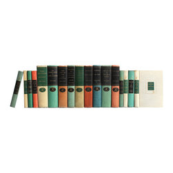 Booth and Williams - Consigned Vintage Modern Library Classics Books, Set of 17 - Modern Library Classics, S/17. New York: The Modern Library, 1906-1954. Seventeen vintage hardcovers of literature and other classic historical works in muted shades of green, red, blue and tan. Includes works by Leo Tolstoy, Jane Austen, William Faulkner and others. Miniature and oversized volumes of colorful classics from literature and history, perfect for reading and decor.