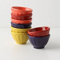 "Anthropologie - Mini Latte Bowls - Set of eightPorcelainDishwasher, microwave safe3 oz2""H, 3.5"" diameterPortugal"