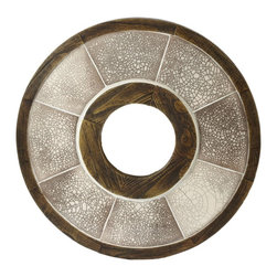 Lazy Susan - Lazy Susan 142007 Iris Raku Wall Art - Round and round the circle of ceramic and wood goes; anywhere you hang this intricate piece of Japanese-inspired art in your home it will lend a feeling of peace.