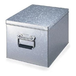 Tin Box with Lid - For an industrial look, this tin box is a great place to stash unsightly documents, craft supplies or holiday decor.