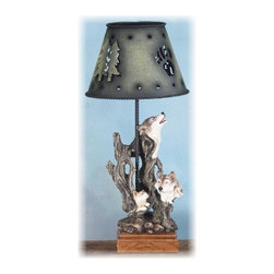 PS - 13 Inch Wolf Pack Hiding in Woods with Metal Candle Lamp Holder - This gorgeous 13 Inch Wolf Pack Hiding in Woods with Metal Candle Lamp Holder has the finest details and highest quality you will find anywhere! 13 Inch Wolf Pack Hiding in Woods with Metal Candle Lamp Holder is truly remarkable.
