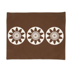 Wabisabi Green - Passion Flower Eco Placemats, Chocolate/Cream, Set of 4 - These festive blooms will bring flair to your table. Plus, they're ecofriendly — made of a recycled polyester-organic cotton blend — so you'll feel good about setting them out.