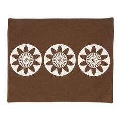 Passion Flower Eco Placemats, Chocolate/Cream, Set of 4