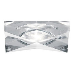 """Fabbian - Fabbian Cindy recessed lamp - F49 (LED, square) - The square Cindy recessed lamp ( F49 ) from Fabbian was designed by Roberto Pamio and Associates and made in Italy The square Cindy recessed lamp is made for indoor installation with 24% lead crystal diffuser available in crystal clear or polished stainless steel in a stainless steel metal structure. This product is also UL Listed.   Products description:  The square Cindy recessed lamp ( F49) from Fabbian was designed by Roberto Pamio and Associates and made in Italy The square Cindy recessed lamp is made for indoor installation with 24% lead crystal diffuser available in crystal clear or polished stainless steel in a stainless steel metal structure. This product is also UL Listed.   Details:     Manufacturer:   Fabbian     Designer:   Roberto Pamio and Associates     Made in: Italy   Dimensions:   Height: 2.1"""" (5.4cm) X Width: 4.7"""" (12cm)      Light bulb:     3 X 1W White LED or 3 X 1W RBG LED     Material   Metal, crystal"""