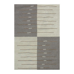 Dynamic Rugs - Dynamic Rugs Rug, Natural, 5'x8' - Gallery rugs offer an upscale muted contemporary look in both geometric and floral patterns. These new rugs feature a tightly tufted cut and loop wool pile of undyed, naturally colored yarns. The use of these natural colors is not only Eco-friendly, but also match the current fashion trend of the use of mid-value grays and taupe colors. Gallery is both fashion forward and eco responsible.