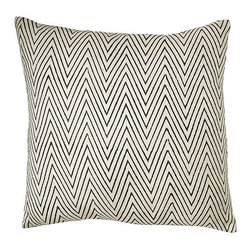 "Hand-Blocked Chevron Pillow Cover - When it comes to chevron patterns, it's safe to say that I just can't get enough. Add this pillow cover from West Elm to the list of things I'm coveting in the print. It comes in a pretty blue too.Dimensions: 20"" square. Made of 100% raw silk. Insert sold separately."