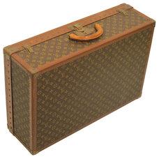 Traditional Home Decor Louis Vuitton Vintage Alzer 70 Monogram Canvas & Leather Suitcase