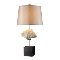 Dimond Lighting - Dimond Lighting D1976 Edgewater Single-Light Table Lamp in Oyster Shell & Dark - Features: