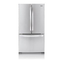 """LG - LFC25765ST Energy Star Rated 33"""" 25 Cu. Ft. Freestanding 3-Door French Door Refr - If you feel like you never have enough space for your groceries or find yourself cramming them in it39s time to discover the convenience of having a refrigerator with the largest capacity available in its class With 25 cu ft of space in a 33 wide ref..."""