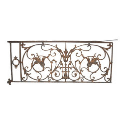 Balcony Fragments - Pair of Late 19th Century Iron Balcony Fragments. Beautiful example of Ornate Iron Design.
