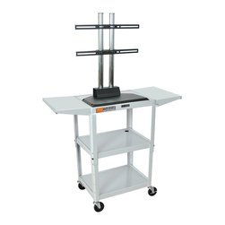 """Luxor - Luxor Flat Panel Cart - AVJ42DL-LCD-LG - The Luxor AVJ42-LCD series are excellent multipurpose AV/utility carts. This unit comes with a LCD mount that holds up to a 42"""" flat panel display"""
