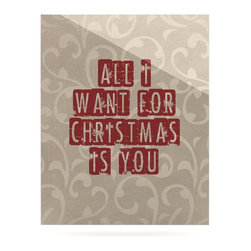 """Kess InHouse - Sylvia Cook """"All I Want For Christmas"""" Holiday Metal Luxe Panel (16"""" x 20"""") - Our luxe KESS InHouse art panels are the perfect addition to your super fab living room, dining room, bedroom or bathroom. Heck, we have customers that have them in their sunrooms. These items are the art equivalent to flat screens. They offer a bright splash of color in a sleek and elegant way. They are available in square and rectangle sizes. Comes with a shadow mount for an even sleeker finish. By infusing the dyes of the artwork directly onto specially coated metal panels, the artwork is extremely durable and will showcase the exceptional detail. Use them together to make large art installations or showcase them individually. Our KESS InHouse Art Panels will jump off your walls. We can't wait to see what our interior design savvy clients will come up with next."""