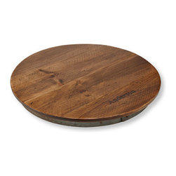 Rustic Wooden Lazy Susan, Personalized - I've never owned a lazy Susan, but now that I've come across this one, I feel like I need to rectify that. You can even get it personalized.