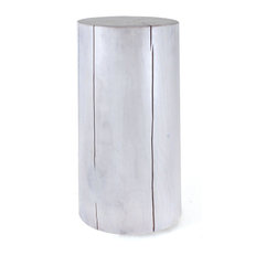 Pfeifer Studio - Solid Wood Side Table - This is called bringing the outside in. A block of solid wood smoothed to feel like silk. This side table can go outside or in. Creates a big statement in a small space.