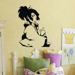 ColorfulHall Co., LTD - Wall Decals for Nursery Cartoon little girl play violin kids baby room - Wall Decals for Nursery Cartoon little girl play violin kids baby room
