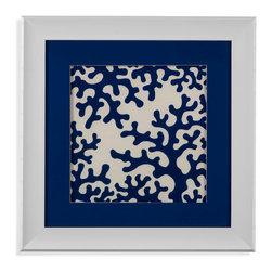 Bassett Mirror - Bassett Mirror Framed Under Glass Art, Ocean Motifs IV - Ocean Motifs IV