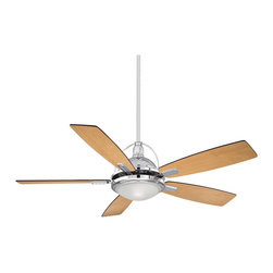 "Savoy House - Savoy House 54-220-5RV-CH Shasta 54"" Fan w/ Blades/Lt.Kit - Ceiling Fan crafted of sleek contemporary styling."