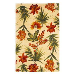 Kas - Country & Floral Catalina 5'x8' Rectangle Ivory Area Rug - The Catalina area rug Collection offers an affordable assortment of Country & Floral stylings. Catalina features a blend of natural Ivory color. Hand Tufted of 100% Wool the Catalina Collection is an intriguing compliment to any decor.